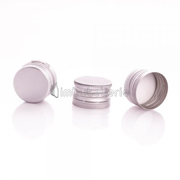 Capac de aluminiu cu filet 28x18 mm argintiu