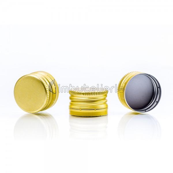 Capac de aluminiu cu filet 28x18 mm auriu