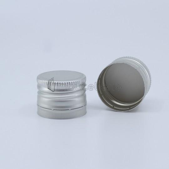 Capac de aluminiu cu filet 30x23 mm argintiu