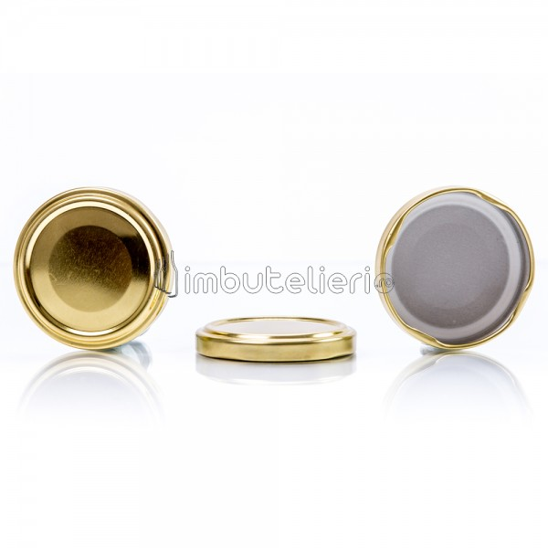 Capac de aluminiu twist-off 82 mm auriu