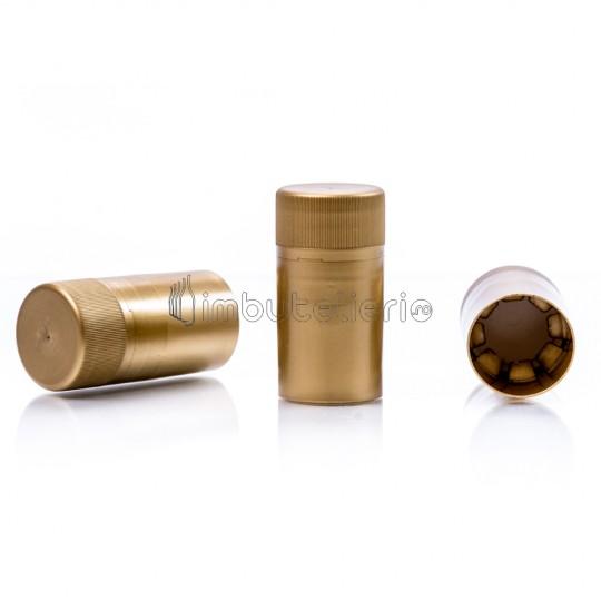 Capac de plastic cu filet 30x60 mm auriu