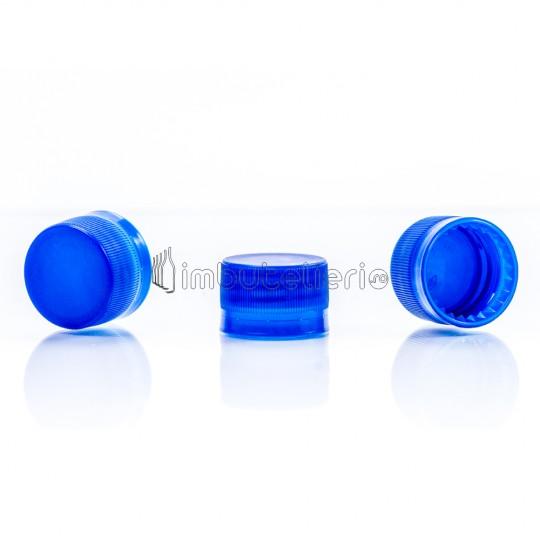 Capac de plastic cu filet si garnitura 28x20 mm albastru