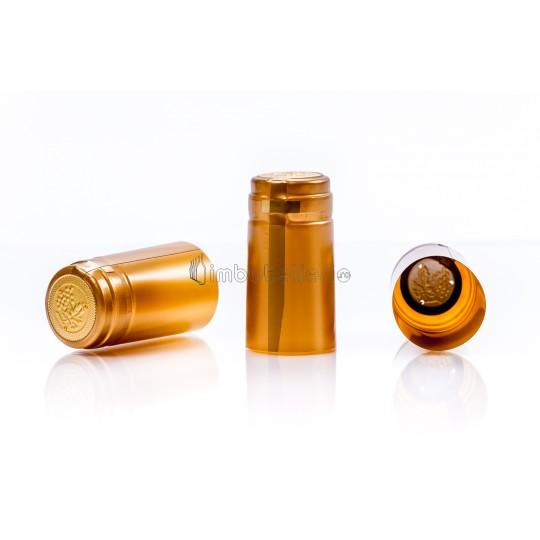 Capison termocontractibil PVC 31x60 mm auriu