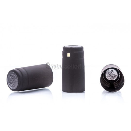 Capison termocontractibil PVC 31x60 mm negru
