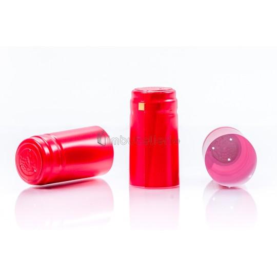 Capison termocontractibil PVC 31x60 mm rosu lucios