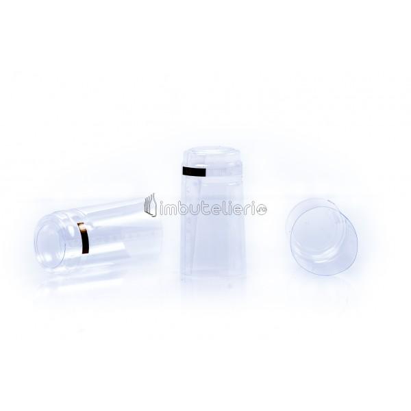 Capison termocontractibil PVC 31x60 mm argintiu
