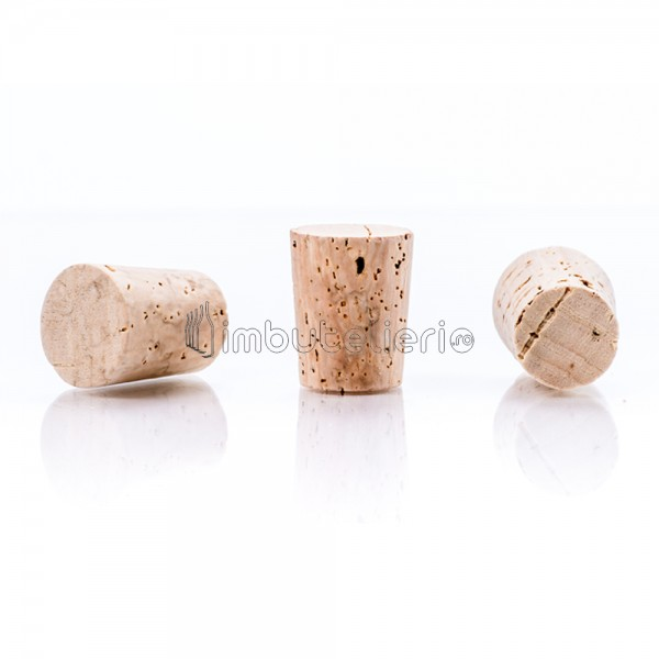 Dop conic de pluta naturala colmatata 22x19/14 mm