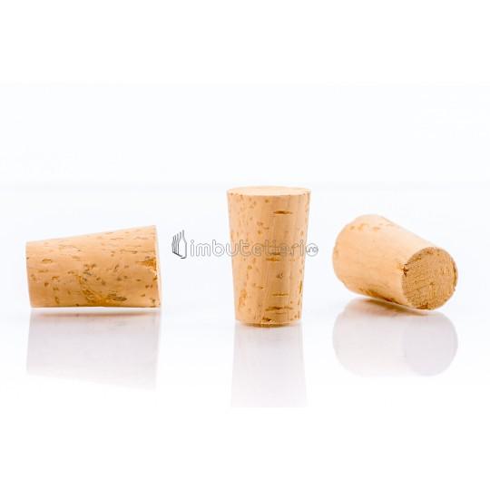 Dop conic de pluta naturala colmatata 33x21/17 mm