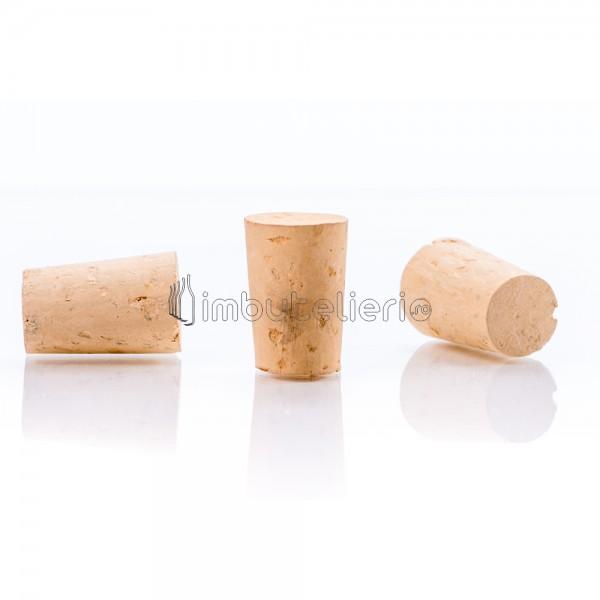 Dop conic de pluta naturala colmatata 33x22/18 mm