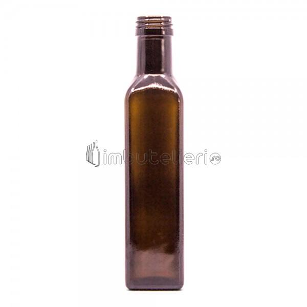 Sticla 250 ml Cognac Maro cu filet